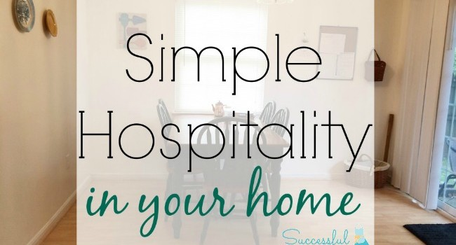 Simple Hospitality in Your Home