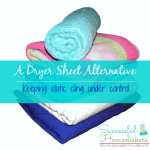 dryer sheet alternative from Successful Homemakers