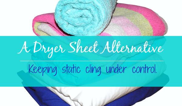 A Dryer Sheet Substitute