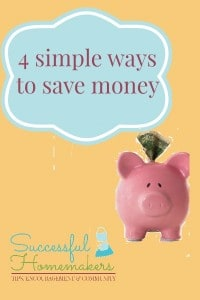 4 simple ways to save money