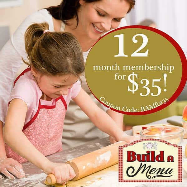 Build a Menu sale- a year for only $35!  ~ Successful Homemakers