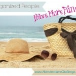 Organized people have more fun from Successful Homemakers