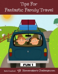 Tips For Fantastic Family Travel with free printables from Successful Homemakers