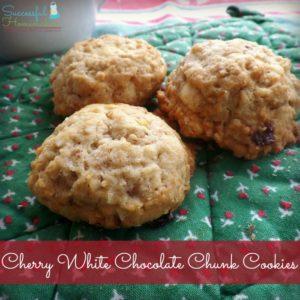 Cherry White Chocolate Chunk Cookies