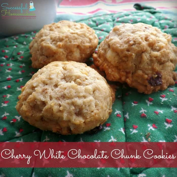 Cherry White Chocolate Chunk Cookies ~ Successful Homemakers