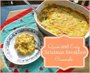 Quick and Easy Christmas Breakfast Casserole & Paypal cash giveaway!