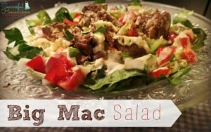 This #lowcarb, #THM-friendly Big Mac Salad is super simple to make, but OH so tasty! ~Successful Homemakers