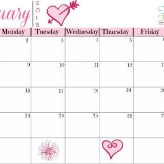 February menu planning calendar free printable ~ Successful Homemakers