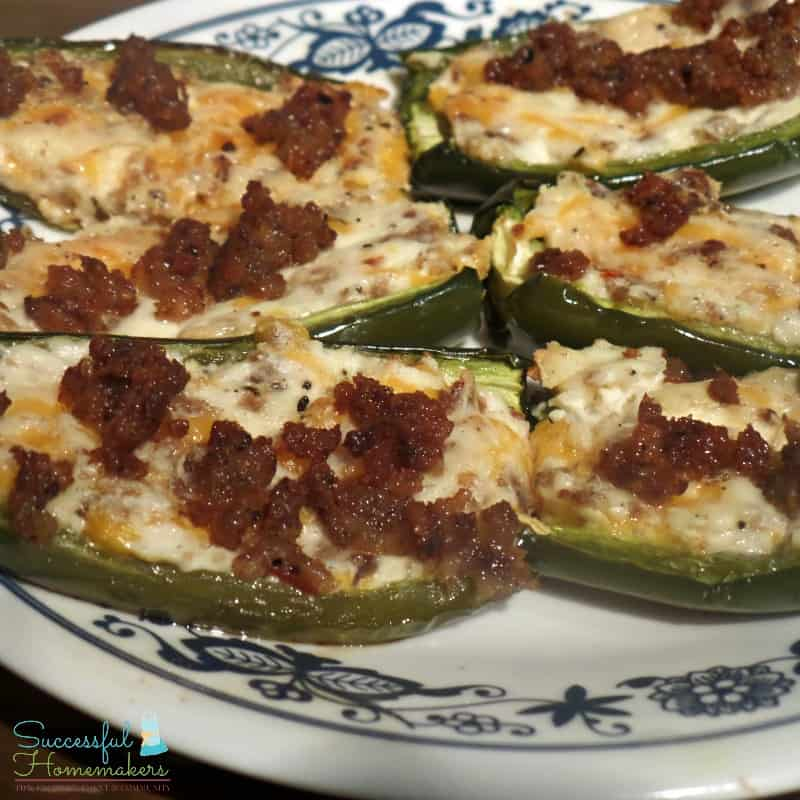 Sausage and Cream Cheese Stuffed Jalapenos ~ Successful Homemakers