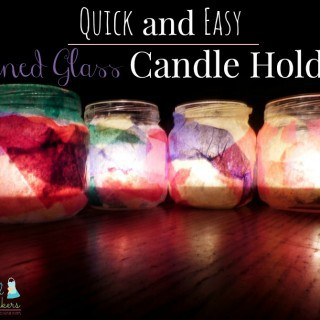 Quick and Easy Stained Glass Candle Holders ~ Successful Homemakers