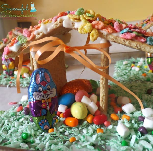 Easter Time Bunny Huts are fun to create and make a great decoration!