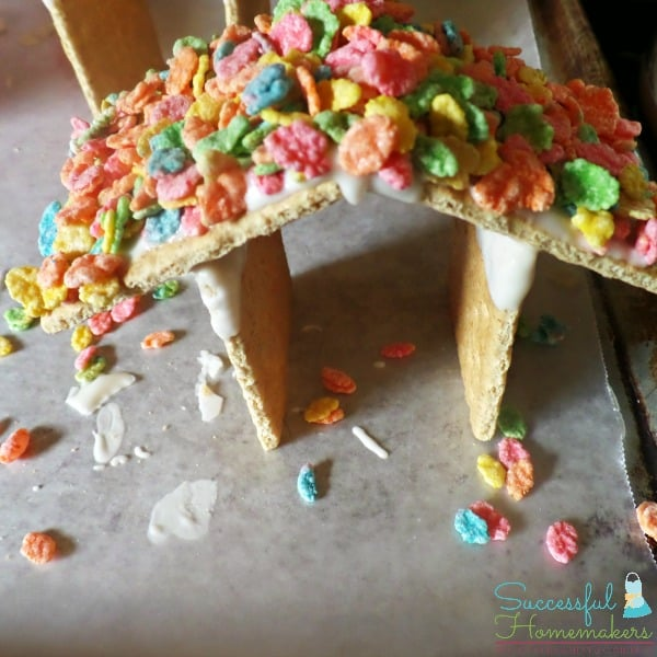 Add some color to your Easter Time Bunny Huts with cereal!