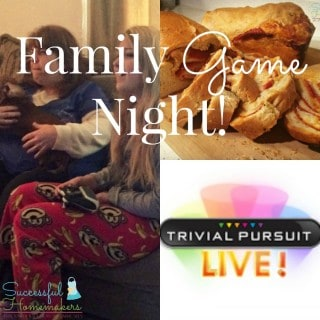 Family Game Night {and Pizza Bread recipe!} ~ Successful Homemakers