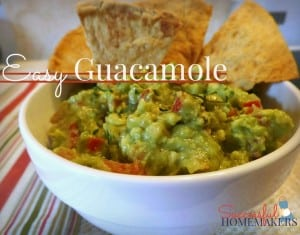 Easy Homemade Guacamole recipe ~ Successful Homemakers