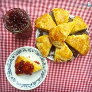 Scones with Strawberry Jam ~ Successful Homemakers