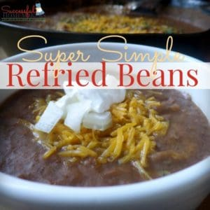 Super simple refried beans! ~ Successful Homemakers