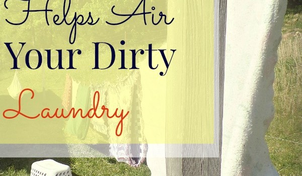 all free clear helps air your dirty laundry!