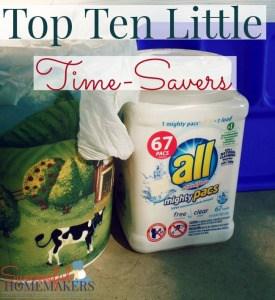 Top Ten Little Time-Savers