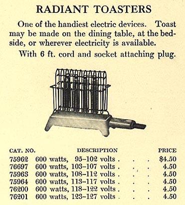 Tour of a 1910 Kitchen toaster
