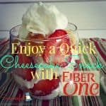 Enjoy a Quick Cheesecake Snack with Fiber One