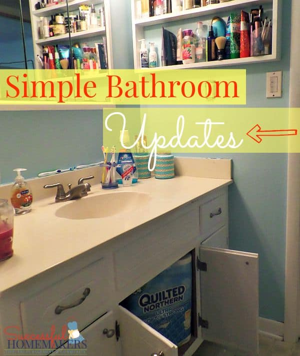 Quick Bathroom Updates ~ Successful Homemakers