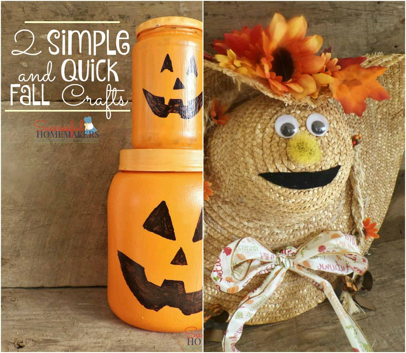quick craft ideas 2 simple and fall crafts 2799