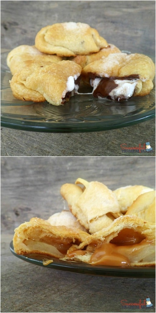 2 Yummy Dessert Crescents Recipes- Caramel Apple and S'Mores! ~ Successful Homemakers