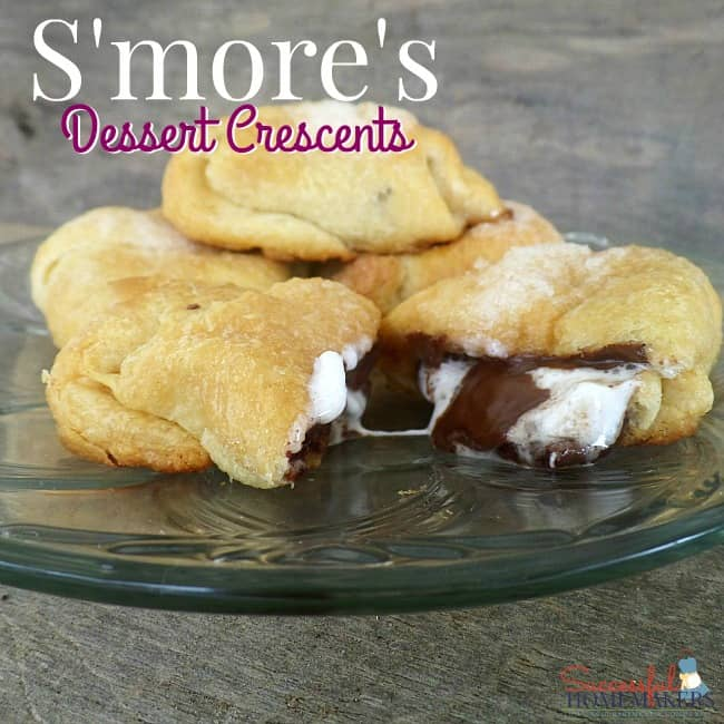 S'Mores Dessert Crescents ~ Successful Homemakers