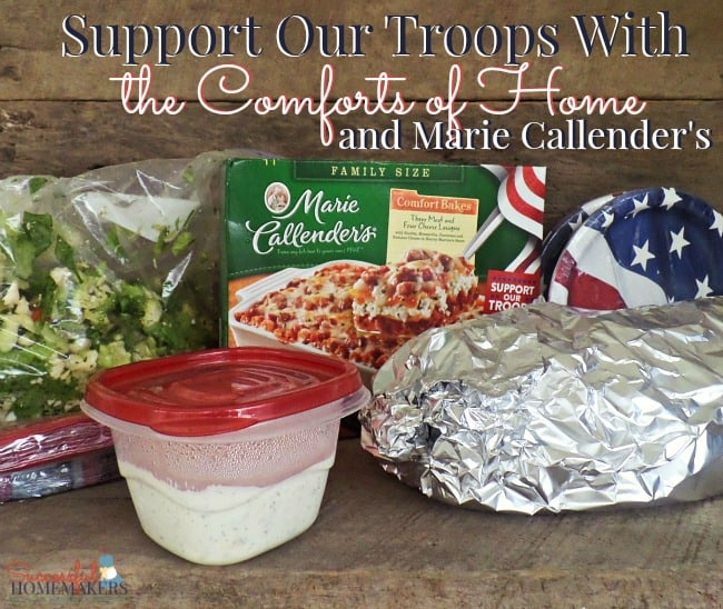 Support Our Troops With the Comforts of Home and Marie Callender's ~ Successful Homemakers