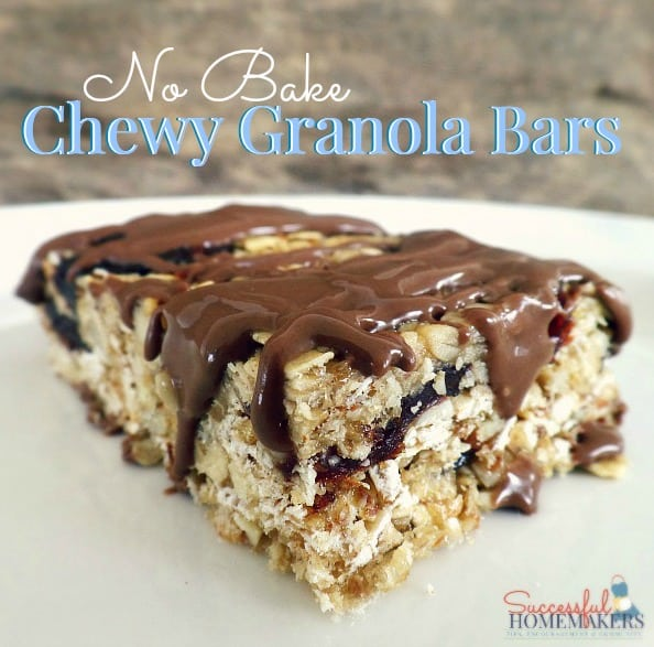 No Bake Chewy Granola Bars ~ Successful Homemakers