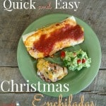 Quick & Easy Christmas Enchiladas ~ Successful Homemakers Perfect for busy nights during the holidays! Or take them to your holiday get togethers. #YesYouCAN @Walmart
