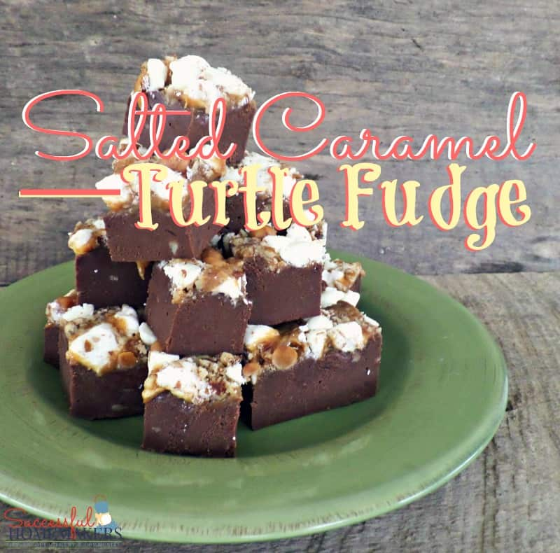 Salted Caramel Turtle Fudge ~ Successful Homemakers