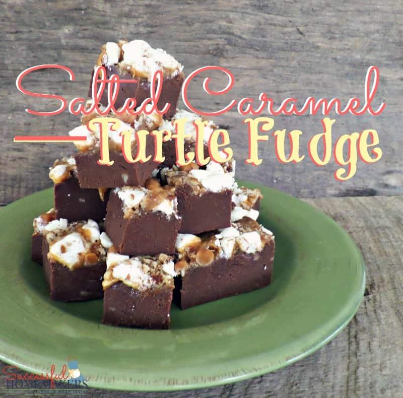 Salted Caramel Turtle Fudge ~ Successful Homemakers
