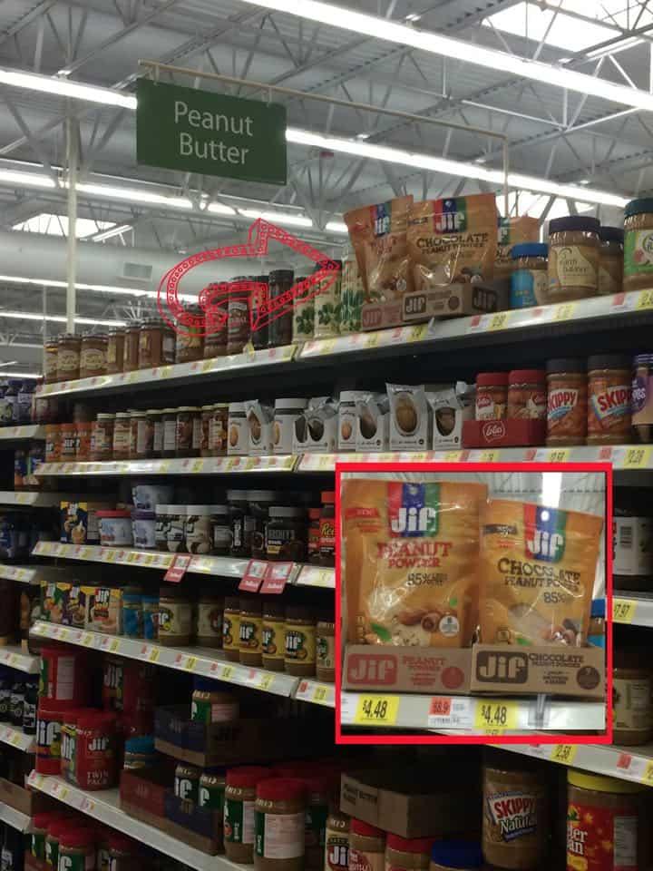Jif Peanut Butter Powder at Wal Mart