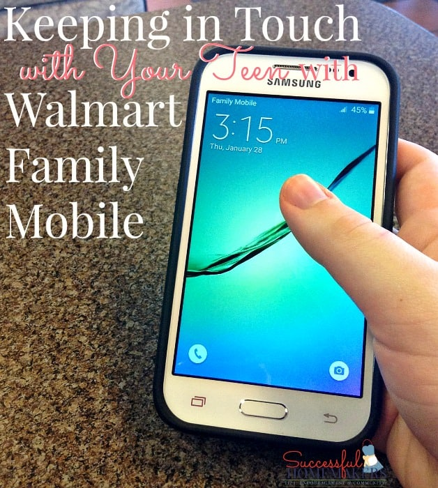 Keeping In Touch with Your Teen with Walmart Family Mobile ~ Successful Homemakers