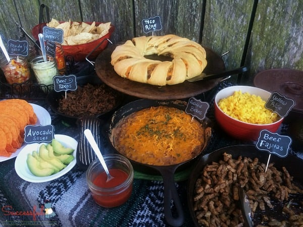 Yellow rice, beef fajitas, and more on this Taco Bar Made Easy ~ Successful Homemakers