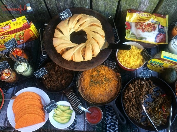 An overhead view of this Taco Bar Made Easy ~ Successful Homemakers