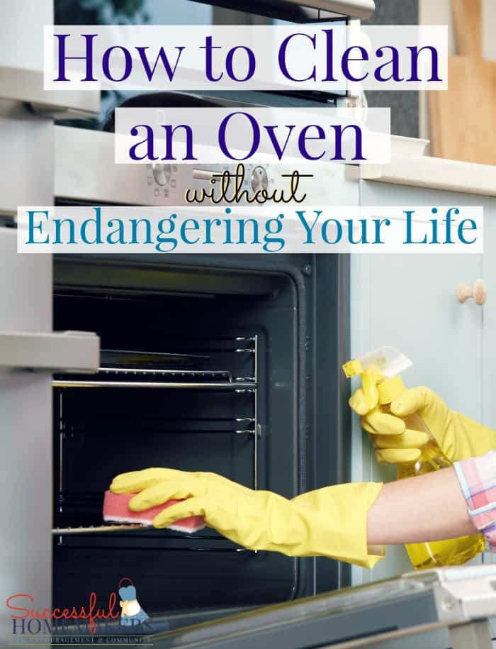 How to Clean an Oven Without Endangering Your Life ~ Successful Homemakers When faced with the chore of cleaning the oven, you essentially have 3 options: Use a chemical spray. Use the self-cleaning feature. Use natural products and a little elbow grease.
