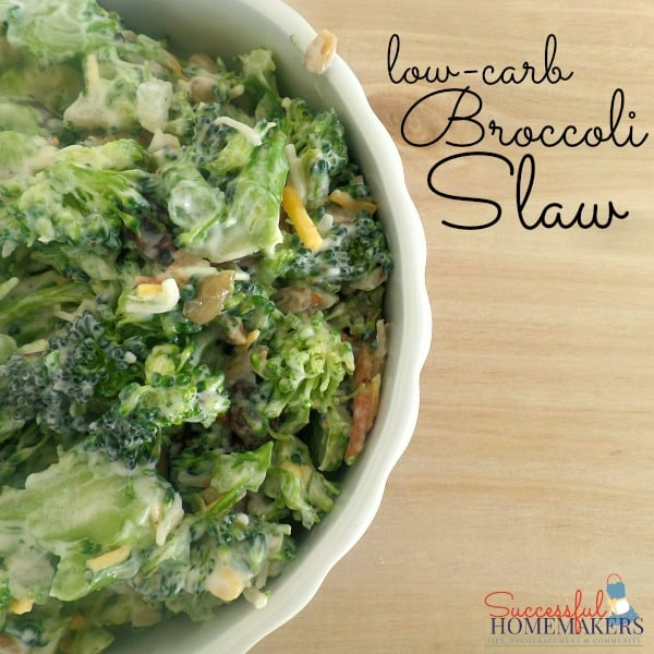 Low Carb Broccoli Slaw ~ Successful Homemakers