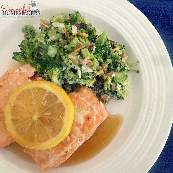 Maple Lemon Salmon ~ Successful Homemakers