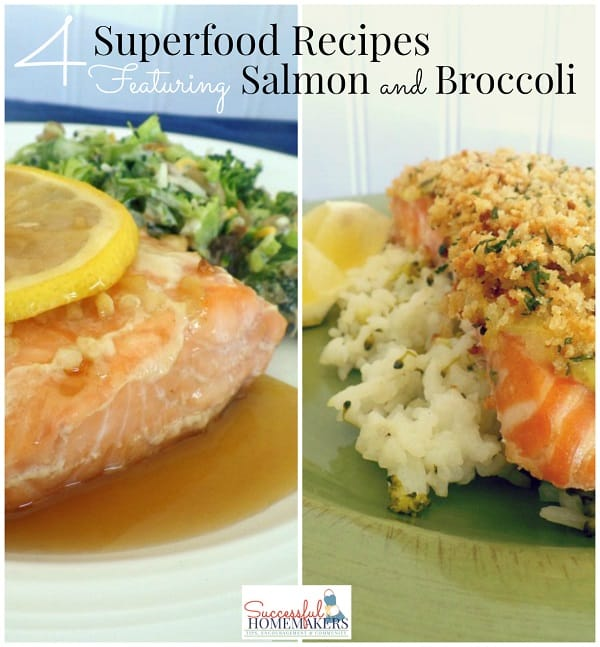 4 Superfood Recipes Featuring Salmon and Broccoli ~ Successful Homemakers