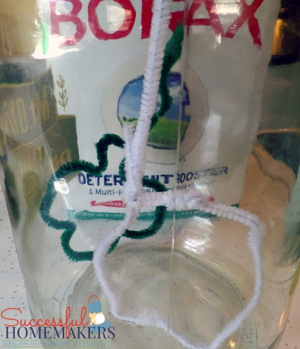 St Patrick's Day party fun! ~ Successful Homemakers Grow crystals on pipe cleaners for a fun craft