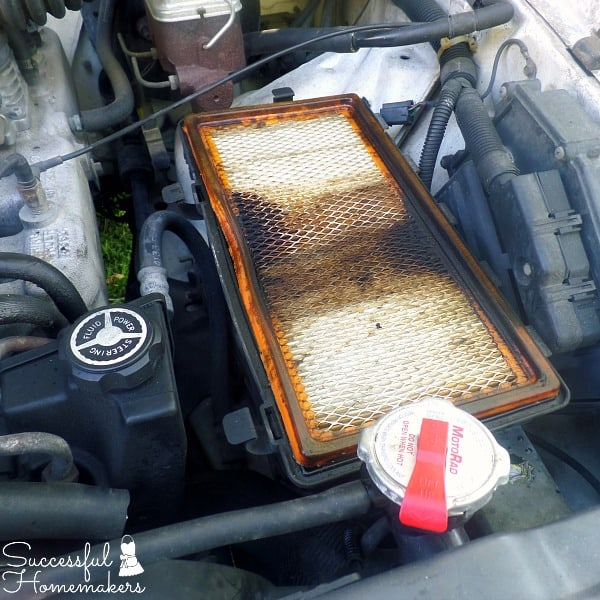 Road Trip Essentials ~ Successful Homemakers The second step to replacing an air filter is to remove the old filter.