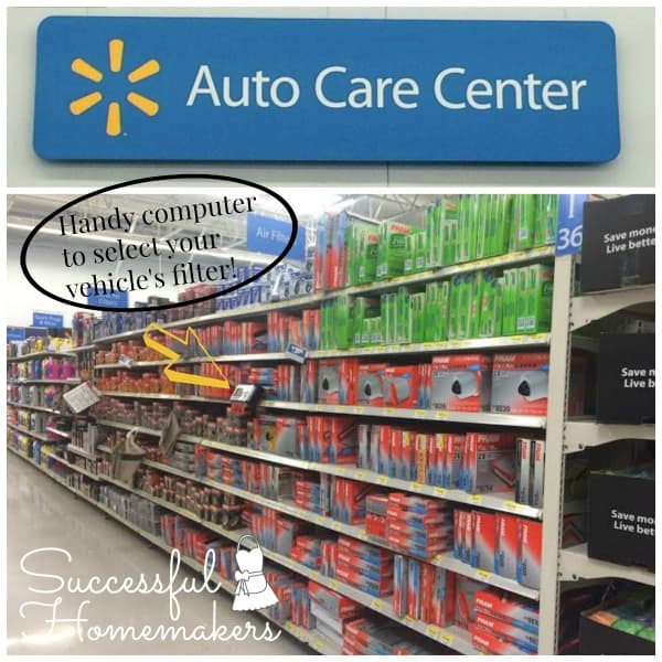 Road Trip Essentials ~ Successful Homemakers Fram air filters at WalMart