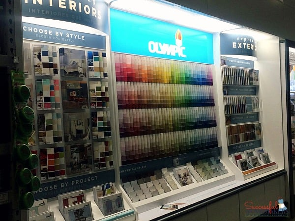 Planner & Craft Room Inspiration Ahead! ~ Successful Homemakers The wall of Olympic paint color at Lowe's!