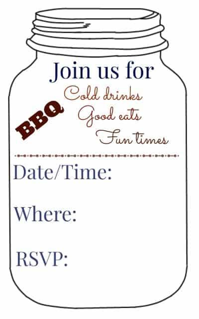 BBQ Invitation Photo