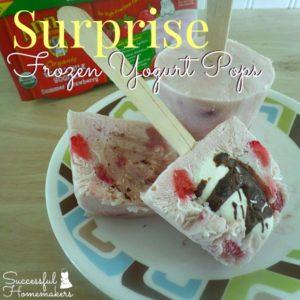 Surprise Frozen Yogurt Pops!