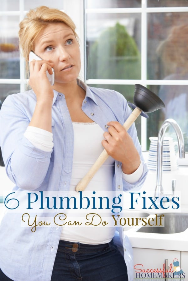 6 Plumbing Fixes You Can Do Yourself ~ Successful Homemakers