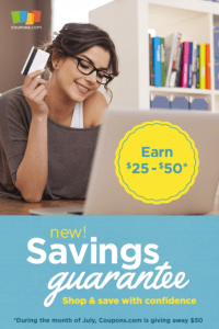 Coupons.com to know you're getting the best deal!