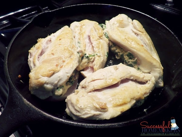 3 Cheese Spinach Stuffed Chicken Breasts & Tomatoes ~ Successful Homemakers